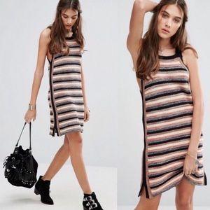 Free People Retro Ruby Crochet Dress
